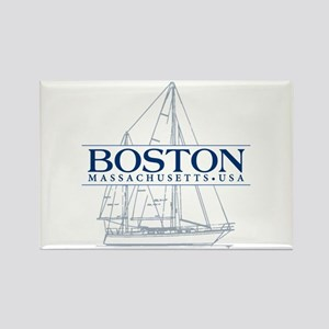 Boston - Rectangle Magnet