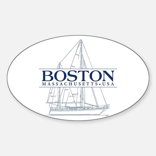 Boston - Sticker (Oval)