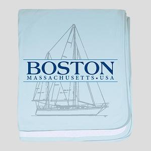 Boston - baby blanket