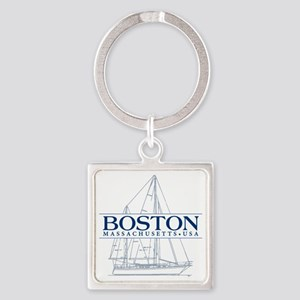 Boston - Square Keychain