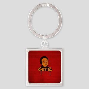 Get Il - Kim Jong Il Square Keychain