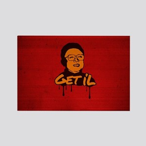 Get Il - Kim Jong Il Rectangle Magnet