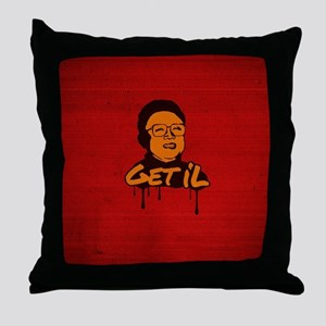 Get Il - Kim Jong Il Throw Pillow