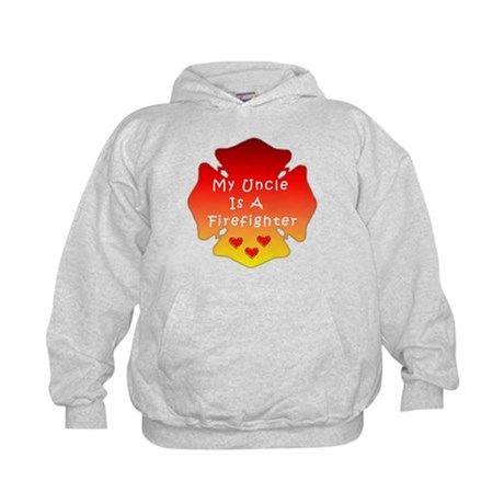 My Uncle Is A Firefighter Kids Hoodie