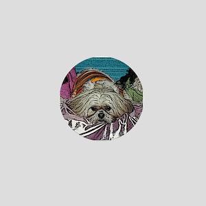Shih Tzu Pop Art Hogan Mini Button