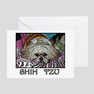 Shih Tzu Pop Art Hogan Greeting Cards (Package of