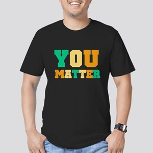 YOU Matter Men's Fitted T-Shirt (dark)