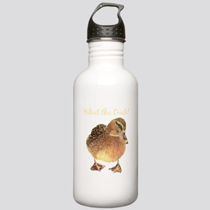 """""""What the Duck"""" Fun Quote T-Shirt Water Bottle"""