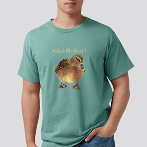 """""""What the Duck"""" Fun Quote T-Shirt Mens Comfort Col"""