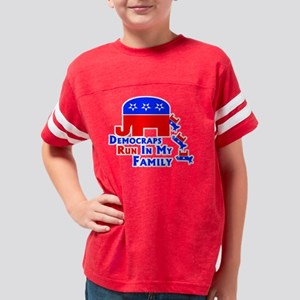 pro-republican elephant polit Youth Football Shirt
