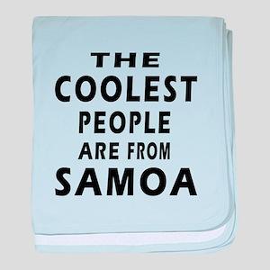 The Coolest Samoa Designs baby blanket