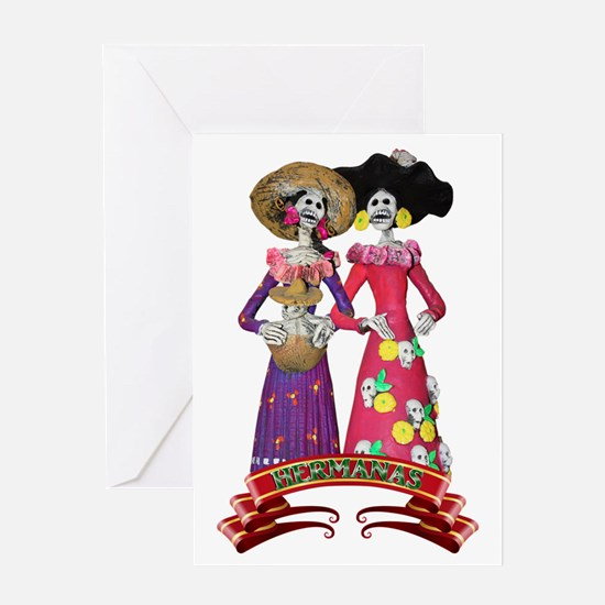 Las Calaveras Hermanas Greeting Cards