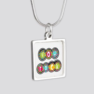 You Rock Silver Square Necklace