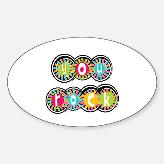 You Rock Sticker (Oval)