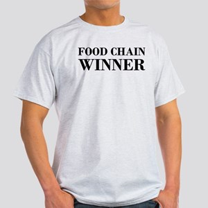 Food Chain Winner Carnivore Humor Light T-Shirt
