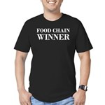 Food Chain Winner Carnivore Humor Men's Fitted T-S