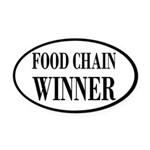 Food Chain Winner Carnivore Humor Oval Car Magnet