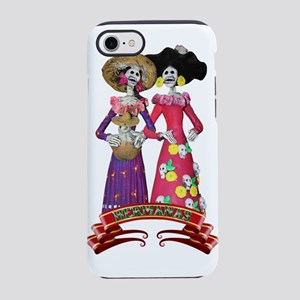 Las Calaveras Hermanas iPhone 7 Tough Case