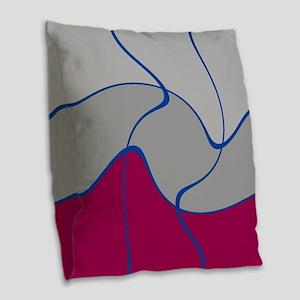 Pink Art Infusion Burlap Throw Pillow