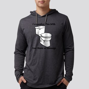PERSONALIZED Toilet Graphic Mens Hooded Shirt