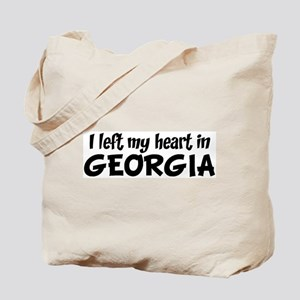 Left my Heart: GEORGIA Tote Bag