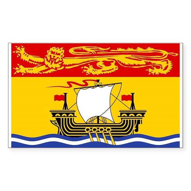 New Brunswick Flag Rectangle Decal By Newbrunswick