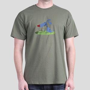 CHRISTMAS LIGHTS PUPPY DOG Dark T-Shirt