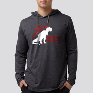 Dinosaurs Died For Our Sins Mens Hooded Shirt