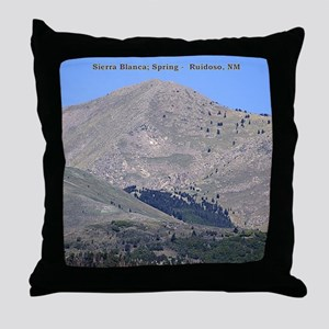 Throw Pillow - Sierra Blanca Spring (with title)