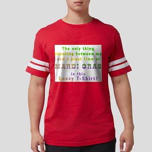 Mardi Gras Lousy T-shirt Mens Football Shirt