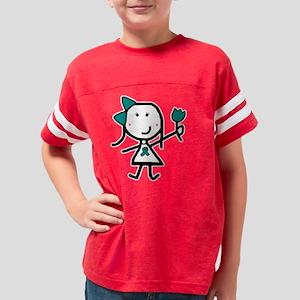 tealribbon_liz_bk Youth Football Shirt