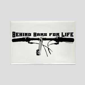 Behind Bars For Life Rectangle Magnet