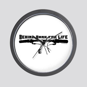 Behind Bars For Life Wall Clock
