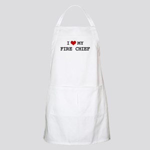 I Love My FIRE CHIEF BBQ Apron