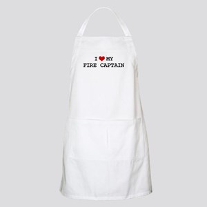 I Love My FIRE CAPTAIN BBQ Apron