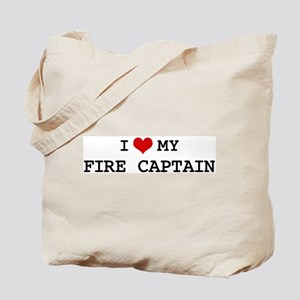 I Love My FIRE CAPTAIN Tote Bag