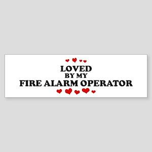 Loved by: FIRE ALARM OPERATOR Bumper Sticker
