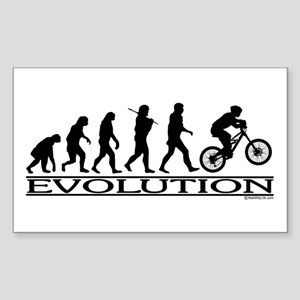 Evolution (Mt. Biking) Rectangle Sticker