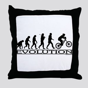 Evolution (Mt. Biking) Throw Pillow