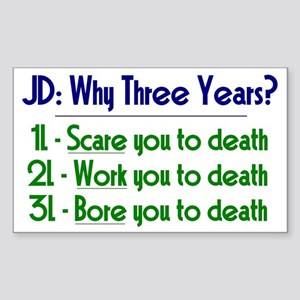 JD = Three Years Sticker