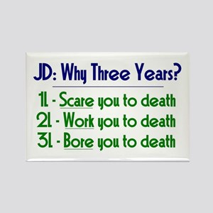 JD = Three Years Rectangle Magnet