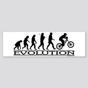 Evolution (Mt. Biking) Bumper Sticker