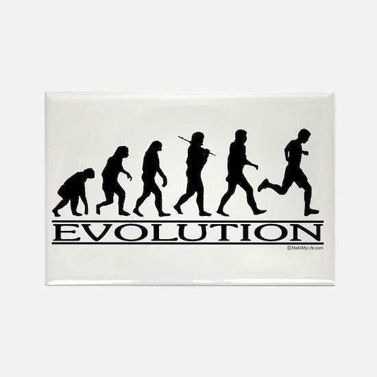 Evolution (Man Running) Rectangle Magnet