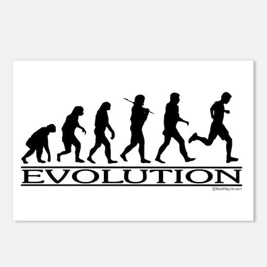 Evolution (Man Running) Postcards (Package of 8)