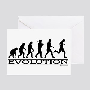 Evolution (Man Running) Greeting Cards (Package of