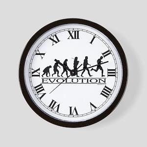 Evolution (Man Running) Wall Clock