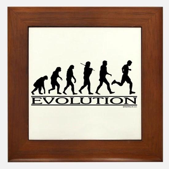 Evolution (Man Running) Framed Tile