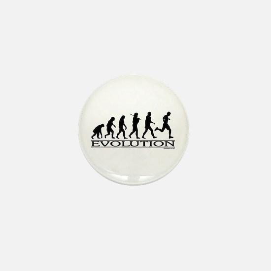 Evolution (Man Running) Mini Button