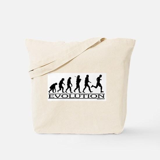 Evolution (Man Running) Tote Bag