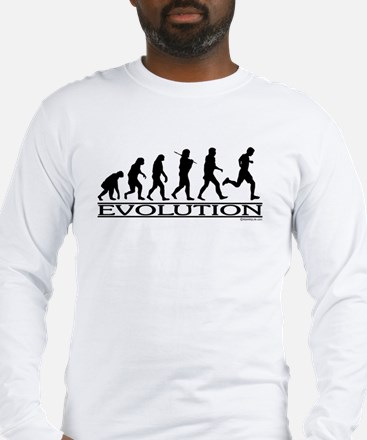 Evolution (Man Running) Long Sleeve T-Shirt